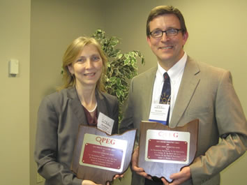 Dr. Kim Downing & Dr. Rob Fischer, 2011 OPEG Awardees